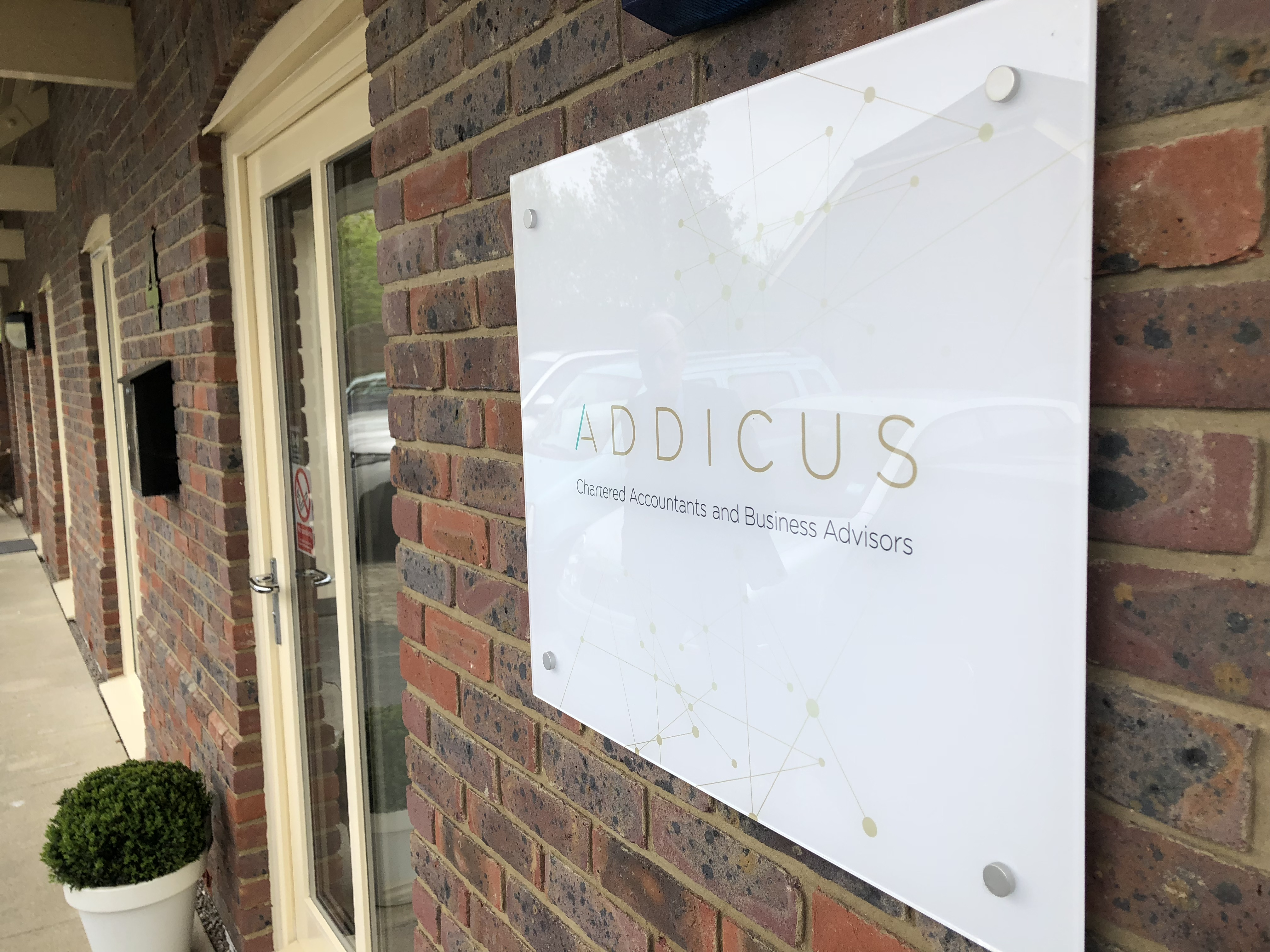 Addicus sign at Axium Centre